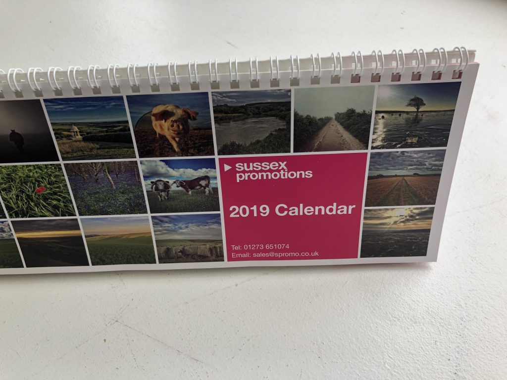 Sussex Promotions 2019 desktop Calendar