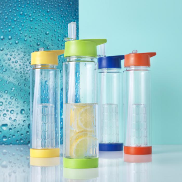 Image of the Tutti Frutti personalised water bottles range available for branding by companies by Sussex Promotions
