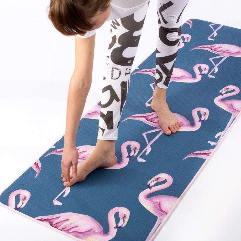 Image of a bespoke printed yoga mat that makes a great gift to home workers during the Coronavirus shut down
